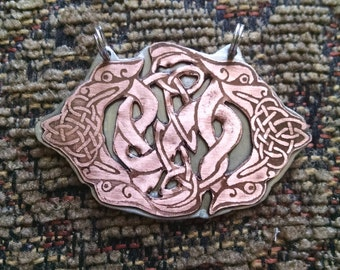 Celtic Knot and Dragon Pendant