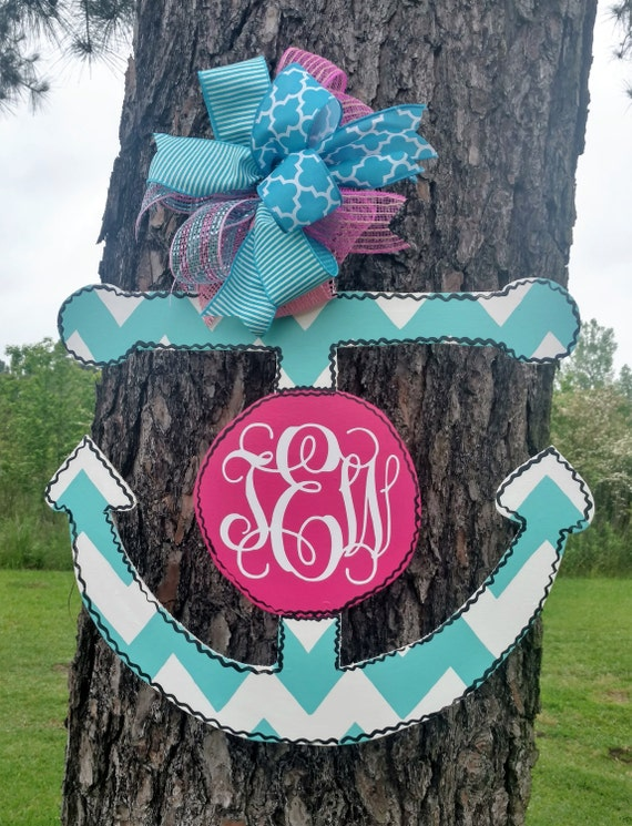 Like this item? & Anchor door hanger wreath decor hand painted door hanger Pezcame.Com