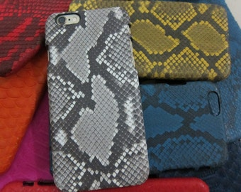FREE USA Shipping!  iPhone 6s 6 Full Python exotic 11 colors wrapped sides & back! Genuine real snake leather skin snap back hard case USA