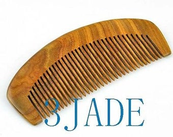 Hand Carved Natural Green Sandalwood Comb -Z012001