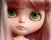 Eyechips for Blythe dolls - Realistic Green Small Pupil