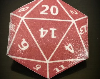 20 sided die (dice) Pin. d20 Pin