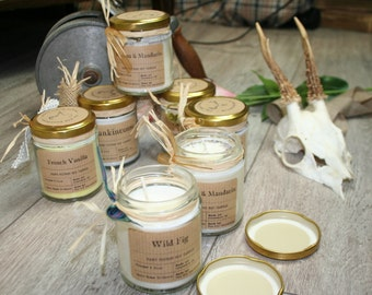 Soy Wax Candles, Beautiful Jar Candles, Wonderful Scents, Vanilla, Coconut, Clary Sage, Jasmine