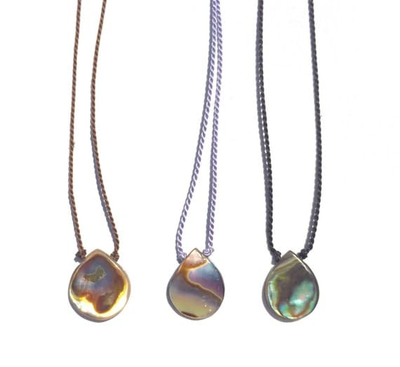 everyday abalone necklace
