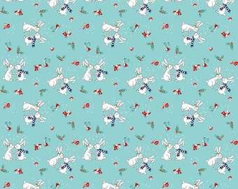 PIXIE NOEL 1/2  yard by Tasha Noel for Riley Blake Bunnies Aqua