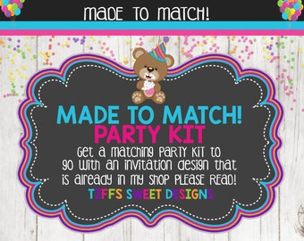 Made to Match Party Kit - Printable - Please read description to see options