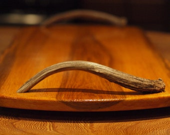 Rich Amber Wood and Deer Antler Serving Tray  - Price Reduced!