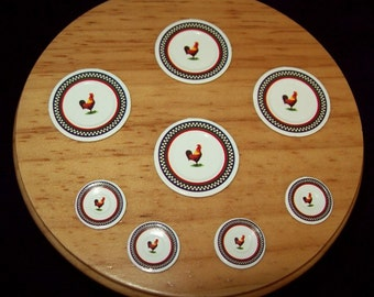 Dollhouse Miniature Paper Plates in 2 sizes, 3 Different Pattern Choices, Set of 8 pieces