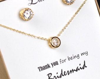 Bridesmaids Jewelry Set, Wedding Necklace, Bridal Jewelry set,  Pendant Necklace, Bridesmaids Jewelry Set ,bridesmaids jewelry