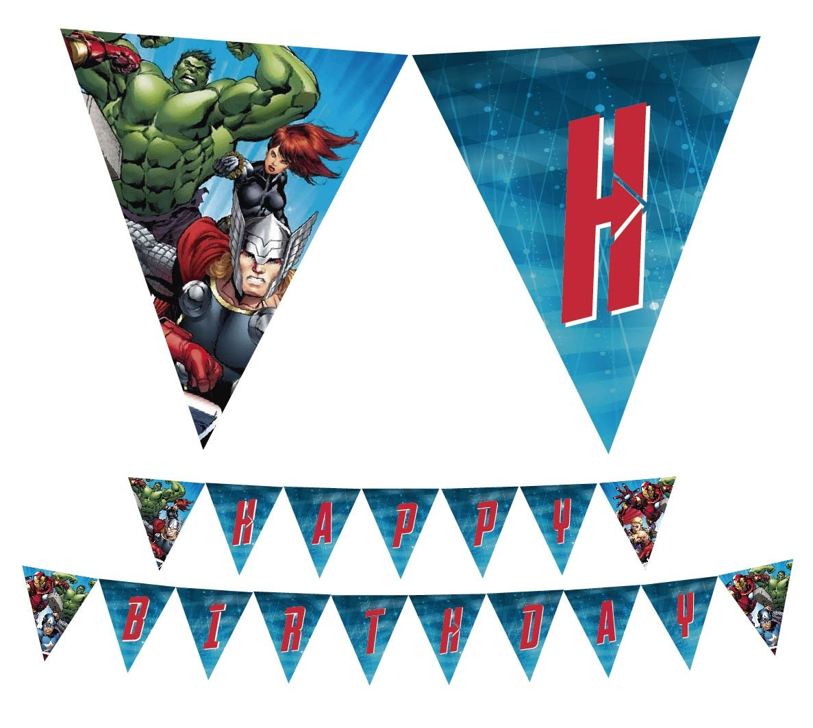 Avengers Printable Happy Birthday Banner