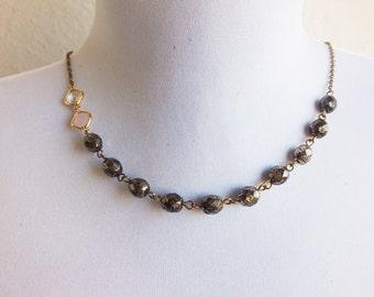 Choker Necklace, Beaded necklace, Vintage inspired, Romantic necklace, Black beaded necklace