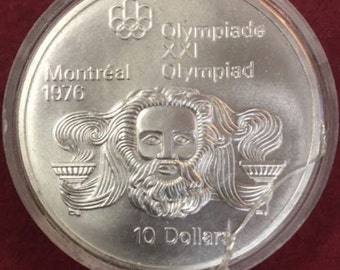 Canada ELIZABETH II 1976 Montreal Olympic Coin Sterling Silver