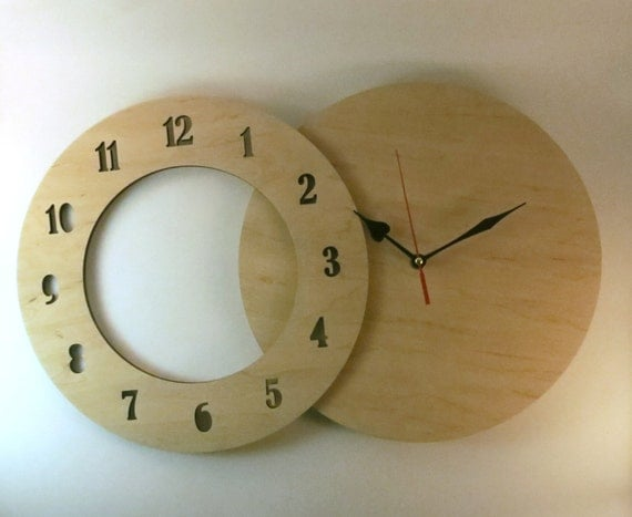 Items Similar To Wall Clock Kit 12 30cm Diy Kit Wood