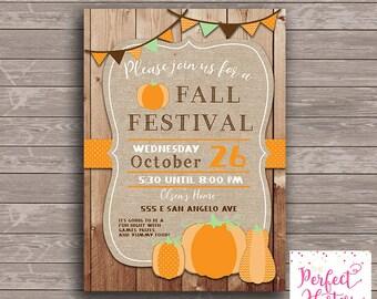 Pumpkin Fall Festival Invitation