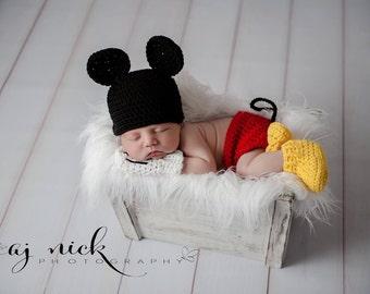 Newborn Mickey Mouse Photo prop