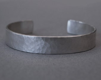 Silver hammared heavy bangle - Silver cuff - Silver torque - Handmade men's bangle - Men's jewellery - Handmade unique jewellery