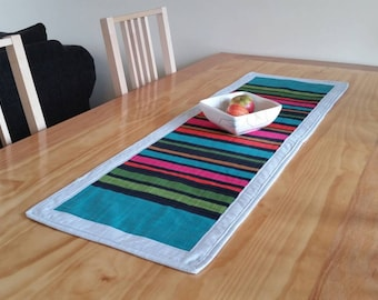 Striped Quilted Table Runner
