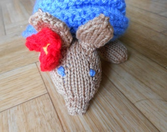 Handknit armadillo plush amigurumi - Woodland stuffed animal doll toy