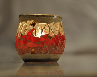 stained glass, mosaic Candle holder (horizon)
