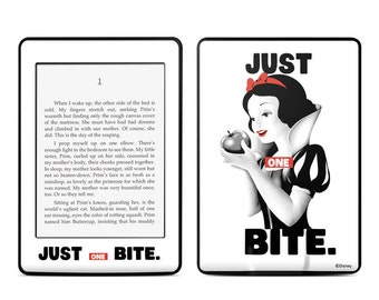 Disney Amazon Kindle Skin - One Bite - Snow White - Sticker Decal - Fits Paperwhite, Fire, Voyage, Touch, Oasis