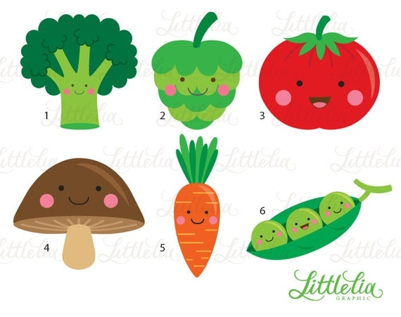 Cute vegetable clipart - Veggie clipart - 15063 from ...