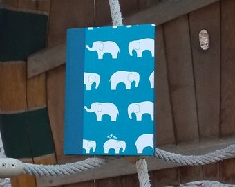 Baby Diary,mother-to-be, Notebook,expecting mommies,Christening, baby diary, memory book,  baby shower, petrol with elephants