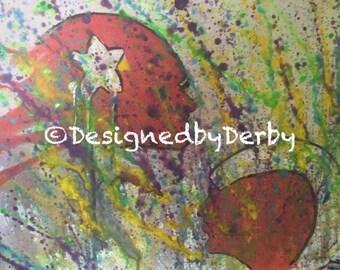Original 16x20 roller derby painting