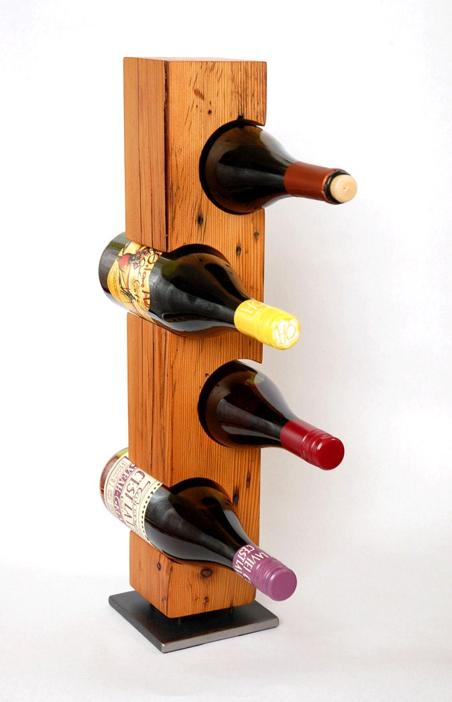 Modern Standing Barn Wood Wine Rack Ready To Ship Reclaimed
