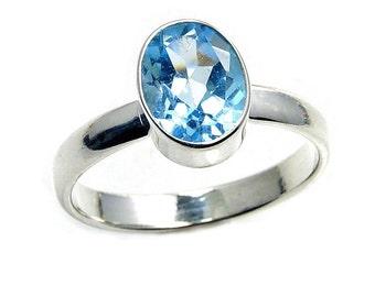 Blue Topaz & .925 Sterling Silver Ring Size 6.25 , 6.5, 7.25, 7.5, 8 , 8.25 , AA502 , AA420, AA499,  AA486, AA501 , AA500