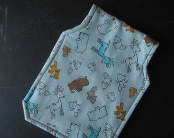 Homemade, Woodland Animals, Baby Burp Pad, Flannel,