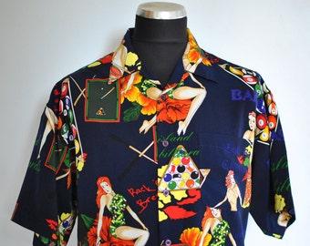 Vintage PRINTED HAWAIIAN men's shirt ....