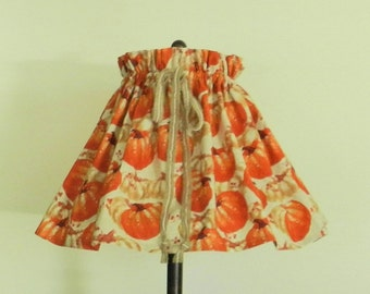 Fall Decor, Pumpkin decor and Bittersweet berries in fall colors-orange,tan and cream. Lamp shade cover-Fits over almost any existing shade