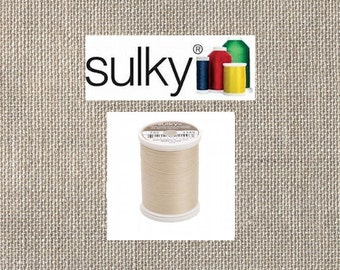 Sulky 2-ply 12wt - Cotton Thread - 330yds - Deep Ecru - 713-1149 - By the Spool