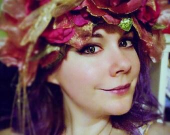 Summer rose fairy headpiece
