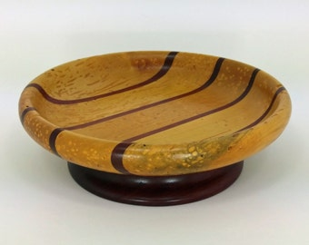 Tunneled maple bowl