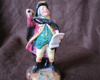 Royal Doulton Miniature Figurine Town Crier HN 3261 Issued 1989-91