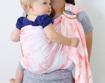 ring sling, baby carrier, linen ring sling, hand dyed, nursing cover, baby wearing