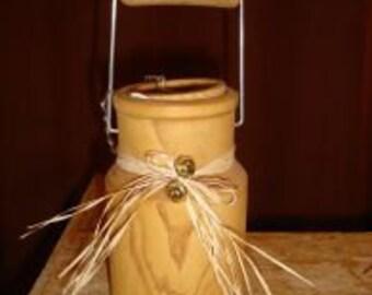 wooden milk jug
