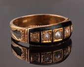 Black Enamel Mourning Ring, Memento Mori and to Mourn a Beloved