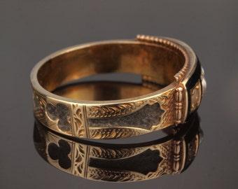 Black Enamel Mourning Ring, Memento Mori and to Mourn a Beloved