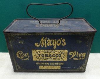 Vintage Mayo Cut Plug Tobacco Tin