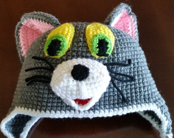 Crochet Tom Hat from Tom and Jerry