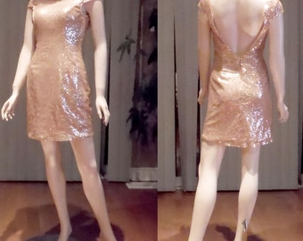 Sequin bridesmaid dress, Champagne gold sequin bridesmaid dress, champagne sequin dress, Party dress,