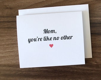 Mother's Day Card, Cute Mothers Day Card, Cute Birthday Card For Mom, Mom Birthday Card, I Love You Mom, Birthday Card For Mom