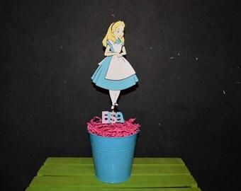 Alice in Wonderland Cake Topper with child's name