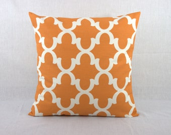Throw Pillows Sofa -  Orange 18x18 Accent Pillow Cover 18x18 0012