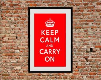 Reprint of a WW2 British Poster - Keep Calm