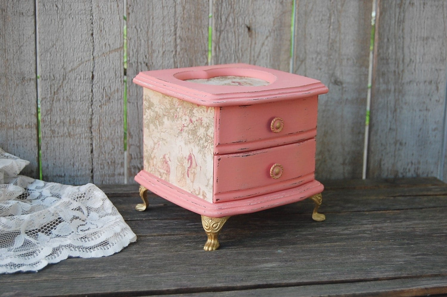 Jewelry Box Shabby Chic French Provincial By