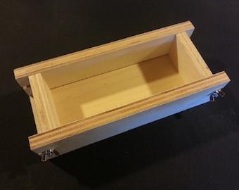 1 Adjustable 2-1 Lb Soap Mold Cold or Hot Process Molds Loaf-Bar , Handmade Wooden Wood