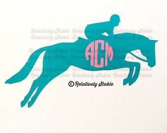 Hunter Jumper Monogram, equestrian monogram, horse monogram, hunter jumper decal